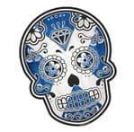 Mexican Day Of The Dead SUGAR SKULL Scotland Scottish Saltire Flag Motif External Vinyl Car Sticker 120x90mm
