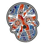 Mexican Day Of The Dead SUGAR SKULL Union Jack British Flag Motif External Vinyl Car Sticker 120x90mm