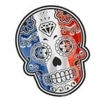 Mexican Day Of The Dead SUGAR SKULL With France French Tricolore Flag Motif External Vinyl Car Sticker 120x90mm
