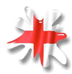 New SPLAT Design With England English Flag Motif External Vinyl Car Sticker 110x110mm