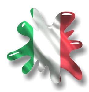 New SPLAT Design With Italy Italian Flag Motif External Vinyl Car Sticker 110x110mm