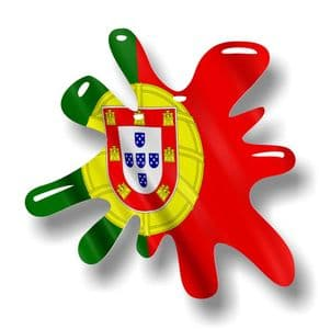 New SPLAT Design With Portugal Portuguese Flag Motif External Vinyl Car Sticker 110x110mm