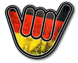 NO WORRIES Hand With Germany German Grunge Flag Motif External Vinyl Car Sticker 105x100mm