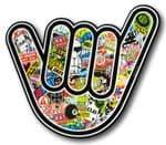 NO WORRIES HAND With Stickerbomb Motif Ratlook Vinyl car sticker Bombing Decal 110x105mm