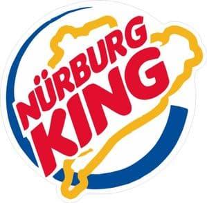 NURBURG KING Ratlook JDM Style vinyl car sticker Bombing Decal 100x90mm