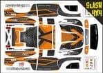 Orange Carbon GT themed vinyl SKIN Kit To Fit Traxxas Slash 4x4 Short Course Truck