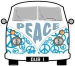 PEACE Hippy Slogan For Retro SPLIT SCREEN VW Camper Van Bus Design External Vinyl Car Sticker 90x80mm