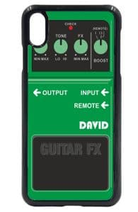 Personalised Custom Green Guitar Effects Fx Pedal Motif (Any Name) Mobile Phone Case To Fit iPhone