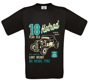 Premium 18 Year Old Hotrod Classic Custom Car Design For 18th Birthday Anniversary gift t-shirt