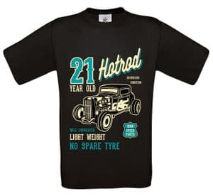 Premium 21 Year Old Hotrod Classic Custom Car Design For 21st Birthday Anniversary gift t-shirt