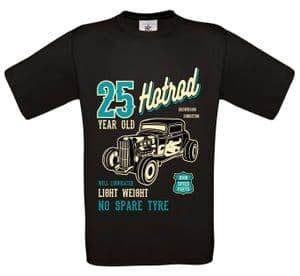 Premium 25 Year Old Hotrod Classic Custom Car Design For 25th Birthday Anniversary gift t-shirt