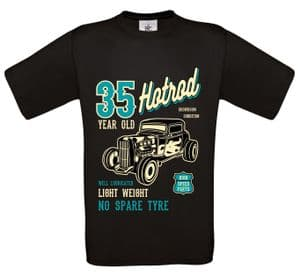 Premium 35 Year Old Hotrod Classic Custom Car Design For 35th Birthday Anniversary gift t-shirt