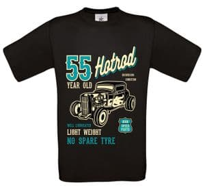 Premium 55 Year Old Hotrod Classic Custom Car Design For 55th Birthday Anniversary gift t-shirt