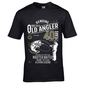 Premium Funny 40 Year Old Angler Fishing Motif For 40th Birthday Anniversary gift Men's T-shirt Top