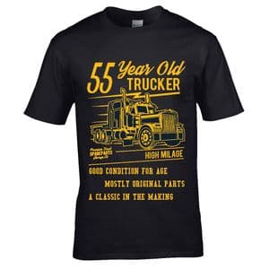 Premium Funny 55 Year Old Trucker Classic Truck Motif For 55th Birthday Anniversary gift t-shirt
