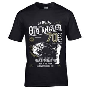 Premium Funny 70 Year Old Angler Fishing Motif For 70th Birthday Anniversary gift Men's T-shirt Top
