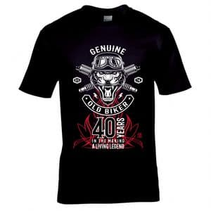 Premium Funny Genuine 40 Year Old Biker Legend Retro motorbike Motif 40th Birthday Gift T-shirt Top