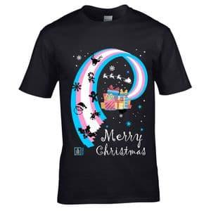 Premium LGBT Merry Christmas Transgender Pride & Christmas icons LGBTQIA Motif Xmas T-shirt Top
