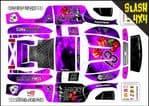 PURPLE The Gambler Lucky 13 themed vinyl SKIN Kit To Fit Traxxas Slash 4x4 Short Course Truck