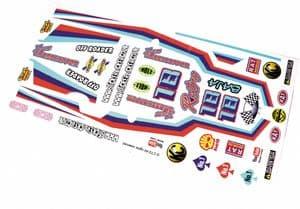 Retro Classic Race Car Livery themed vinyl stickers to fit R/C Tamiya Grasshopper