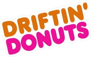 Retro DRIFTING DONUTS Funny Parody JDM Drift Look Vinyl Car Sticker Bomb Decal 150x65mm