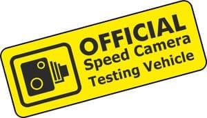 SPEED CAMERA TEST VEHICLE Funny Rat Look JDM Euto Style Vinyl Car Sticker Decal 150x55mm