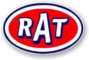Standard RAT Oval Funny Parody Design Vinyl Car sticker decal 120x77mm