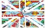UK British Union Jack Flag Design With Cartoon Kapow Speech Bubbles Vinyl Car Sticker Decal 110x70mm