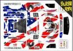 US Flag & American Bald Eagle themed vinyl SKIN Kit To Fit Traxxas Slash 4x4 Short Course Truck