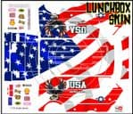 USA Flag American Patriot themed vinyl SKIN Kit & Stickers To Fit Tamiya Lunchbox R/C Monster Truck