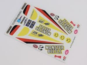Yellow Original Kit Style Retro themed vinyl stickers to fit R/C Tamiya Monster Beetle (3)