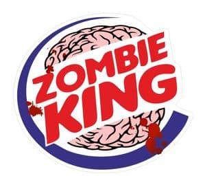 ZOMBIE KING Funny VINYL Car Van Bumper Window Sticker Decal JDM BLOOD SPLATTER 105x95mm