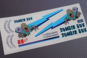 Zombie theme vinyl stickers to fit Tamiya Lunch Box inc. Tyre Decals