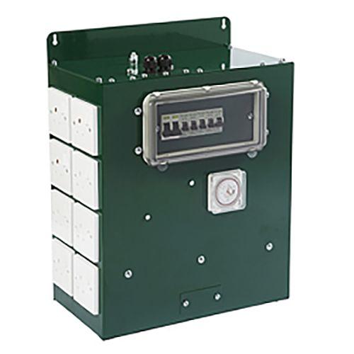 Green Power Commercial 12-Way + 4 Non-Timed Sockets Contactor Grow Light Controller