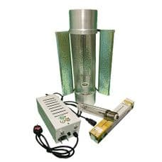 "Pro Gear ( Horti Gear ) 600W With Cool Tube 6"" Reflector and Sun Lux Pro Dual Spectrum HPS Lamp"