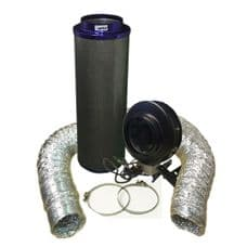 """Viper Carbon Filter 10"""" / 250 x 1000mm / 10"""" Hurricane Extraction Kit"""