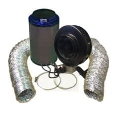 """Viper Carbon Filter 10"""" / 250 x 600mm / 10"""" Hurricane Extraction Kit"""