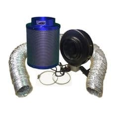 """Viper Carbon Filter 8"""" / 200 x 400mm / 8"""" Hurricane Extraction Kit"""