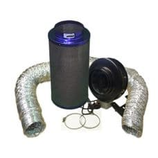 """Viper Carbon Filter 8"""" / 200 x 600mm / 8"""" Hurricane Extraction Kit"""