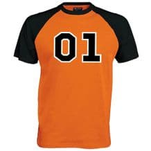01 General 2 tone Baseball T-Shirt - Dukes Lee  Fan Film Unisex Mens Top