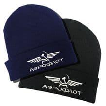 Aeroflot Embroidered Beanie Hat