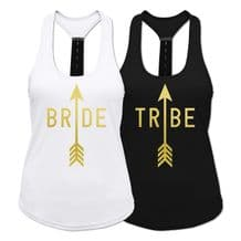 Bride Tribe Ladies Strap Back Vest - Wedding Bridesmaid Workout Exercise Top