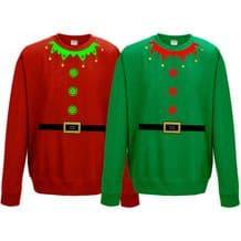 Christmas Elf Suit Sweatshirt - Cute Santa's Little Helper Funny Gift Jumper Top