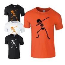Dabbing Skeleton Kids T-shirt - Halloween  Scary Kids Costume Fancy Dress Top