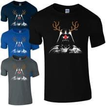 Darth Vader Rudolph Reindeer T-Shirt Funny Star Wars Christmas Kids Men Gift Top