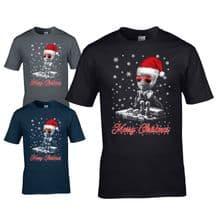 DJ Baby Groot Santa Hat - Headphones Music Christmas Party Disco Mixing Decks