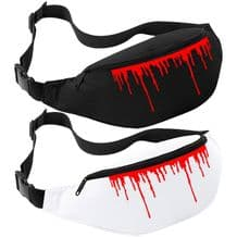 Dripping Red Blood Bum Bag - Halloween Belt Fanny Pack Horror Purse Hip Wallet