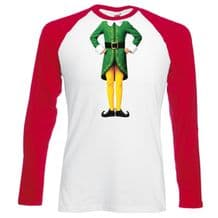 Elf Body Baseball T-Shirt - Christmas Humour Funny Buddy Festive Gift Mens Top
