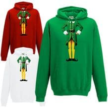 Elf Body Hoodie - Cute Christmas Humour Funny Buddy Xmas Festive Gift Hoody Top