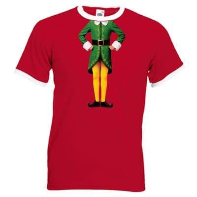 Elf Body Ringer T-Shirt - Christmas Humour Funny Buddy Festive Gift Mens Top